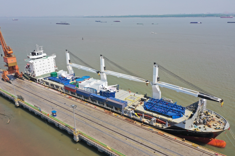 First shipment for US Soybean Processing Plant
