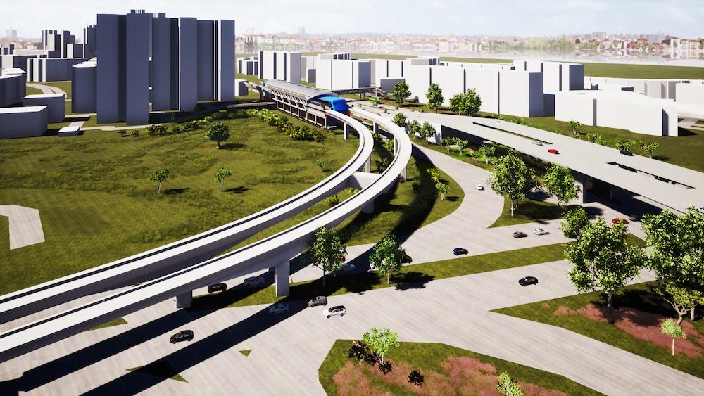 裕廊支线的三座新建火车站高架桥